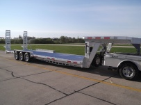 Gooseneck Low Profile Heavy Equipment Flatbed Trailers - GNLPF 35C