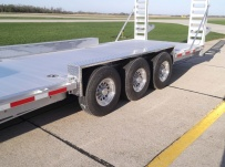 Gooseneck Low Profile Heavy Equipment Flatbed Trailers - GNLPF 35A