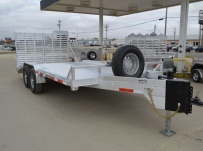 Bumper Pull Heavy Equipment Skid Loader Trailer - SKL 39B