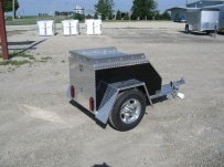 Enclosed Motorcycle Trailer Pull Behind Tote - CYCLE 8B
