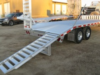 Bumper Pull Heavy Equipment Skid Loader Trailer - SKL 24B