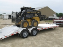 Bumper Pull Heavy Equipment Skid Loader Trailer - SKL 15