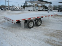 Bumper Pull Heavy Equipment Flatbed Trailers - BPF 11