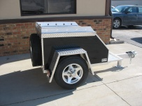 Enclosed Motorcycle Trailer Pull Behind Tote - CYCLE 1E