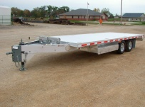 Bumper Pull Heavy Equipment Flatbed Trailers - BPF 6B