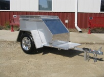 Enclosed Motorcycle Trailer Pull Behind Tote - CYCLE 19B