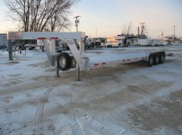 Gooseneck Low Profile Heavy Equipment Flatbed Trailers - GNLPF 21B