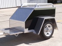 Enclosed Motorcycle Trailer Pull Behind Tote - CYCLE 43A