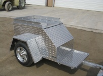 Enclosed Motorcycle Trailer Pull Behind Tote - CYCLE 17B