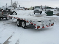Bumper Pull Heavy Equipment Flatbed Trailers - BPF 12B