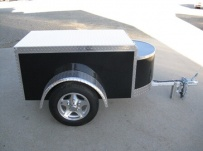 Enclosed Motorcycle Trailer Pull Behind Tote - CYCLE 39A
