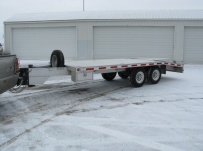 Bumper Pull Heavy Equipment Flatbed Trailers - BPF 12A