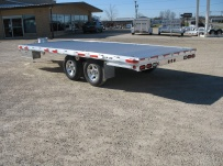 Bumper Pull Heavy Equipment Flatbed Trailers - BPF 24B