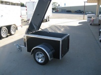 Enclosed Motorcycle Trailer Pull Behind Tote - CYCLE 39C