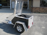 Enclosed Motorcycle Trailer Pull Behind Tote - CYCLE 8A