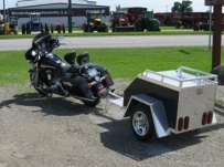 Enclosed Motorcycle Trailer Pull Behind Tote - CYCLE 25