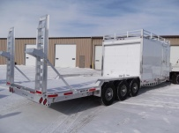 Bumper Pull Heavy Equipment Flatbed Trailers - BPF 31B
