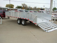 Bumper Pull Heavy Equipment Flatbed Trailers - BPF 5B