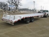 Bumper Pull Heavy Equipment Flatbed Trailers - BPF 13A