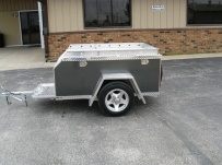 Enclosed Motorcycle Trailer Pull Behind Tote - CYCLE 23B
