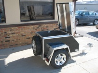 Enclosed Motorcycle Trailer Pull Behind Tote - CYCLE 1C