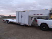 Gooseneck Low Profile Heavy Equipment Flatbed Trailers - GNLPF 26