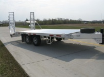 Bumper Pull Heavy Equipment Flatbed Trailers - BPF 19