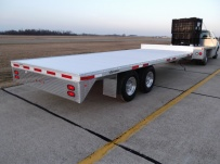 Bumper Pull Heavy Equipment Flatbed Trailers - BPF 28