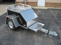 Enclosed Motorcycle Trailer Pull Behind Tote - CYCLE 6A