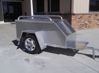 Enclosed Motorcycle Trailer Pull Behind Tote - CYCLE 42