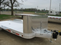 Bumper Pull Open Automotive Aluminum Trailers - BPOC 13B
