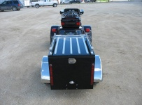 Enclosed Motorcycle Trailer Pull Behind Tote - CYCLE 34B