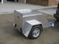 Enclosed Motorcycle Trailer Pull Behind Tote - CYCLE 17A