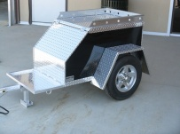 Enclosed Motorcycle Trailer Pull Behind Tote - CYCLE 11B