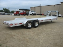 Gooseneck Low Profile Heavy Equipment Flatbed Trailers - GNLPF 24B