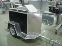 Enclosed Motorcycle Trailer Pull Behind Tote - CYCLE 26