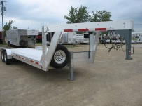 Gooseneck Low Profile Heavy Equipment Flatbed Trailers - GNLPF 24A