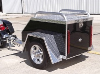 Enclosed Motorcycle Trailer Pull Behind Tote - CYCLE 43B