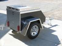 Enclosed Motorcycle Trailer Pull Behind Tote - CYCLE 11C