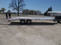 Bumper Pull Heavy Equipment Flatbed Trailers - BPF 45B