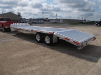 Bumper Pull Heavy Equipment Flatbed Trailers - BPF 52B