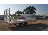 Bumper Pull Heavy Equipment Flatbed Trailers - BPF 53B