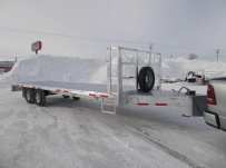 Bumper Pull Heavy Equipment Flatbed Trailers - BPF 58A