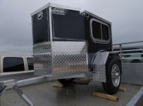 Enclosed Motorcycle Trailer Pull Behind Tote - CYCLE 49A