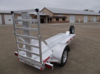 Enclosed Motorcycle Trailer Pull Behind Tote - CYCLE 51C