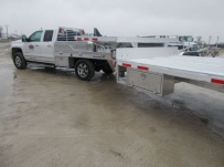 All Aluminum Gooseneck Flatbed Hotshot Trailers - GNF 144A
