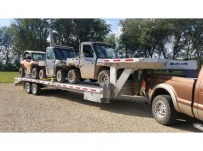 Gooseneck Heavy Equipment Flatbed Trailers - GNF 158