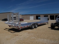 Gooseneck Low Profile Heavy Equipment Flatbed Trailers - GNLPF 48A