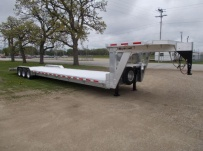 Gooseneck Low Profile Heavy Equipment Flatbed Trailers - GNLPF 52A