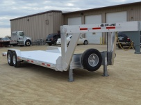 Gooseneck Low Profile Heavy Equipment Flatbed Trailers - GNLPF 45A